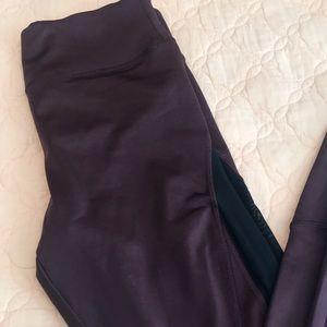 Forever 21 burgundy and black workout leggings